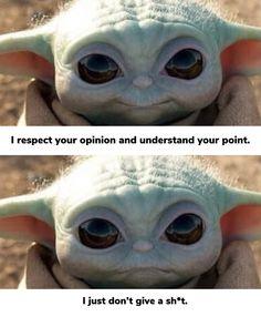 Funny True Quotes, Funny Relatable Memes, Funny Jokes, Hilarious, Wtf Funny, Yoda Meme, Yoda Funny, Funny Animal Memes, Funny Animals