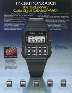 14 Key Moments in Watchmaking History Every Watch Man Should Know Retro Watches, Vintage Watches, Watches For Men, Casio Digital, Digital Watch, Luxury Watches, Rolex Watches, Old Advertisements, Watch Ad