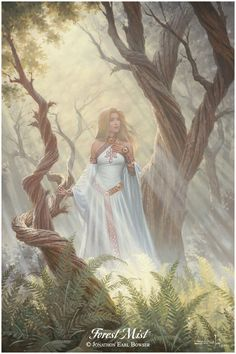 ...an oil painting of Condwiramurs the White, the long-suffering wife of the long-traveling Red Knight...
