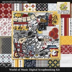 World of Music Digital Scrapbooking kit