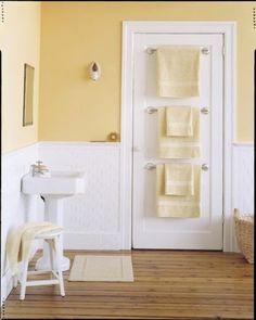 inspiracje w moim mieszkaniu: Łazienkowy wieszak na ręczniki {Bathroom towel…