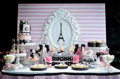 Ooh La La love Paris pink and white backdrop  / Paris theme party / by Mylittleshopsupplies on Etsy https://www.etsy.com/listing/400630289/ooh-la-la-love-paris-pink-and-white