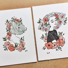I've been drawing with a fountain pen lately and it's fun !  Prints are available in my shop (direct link in bio !)