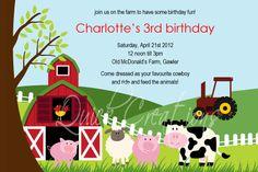 Farm Animal Birthday Invitation Inspirational Printable Farm Animals Birthday Party Invitation by Cohenlane Farm Animal Birthday, Farm Birthday, 1st Birthday Gifts, Birthday Party Invitations, Birthday Ideas, Farm Party, First Birthdays, Creations, Etsy