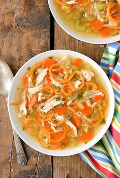 Chicken and Sweet Potato Noodle Soup