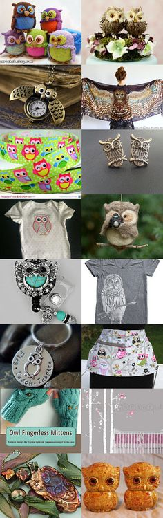 ByLightOfMoon Owl Love!  by Cyndi on Etsy--Pinned with TreasuryPin.com