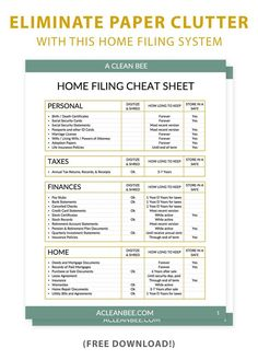 Home File Organization, Filing Cabinet Organization, Organizing Paperwork, Clutter Organization, Household Organization, Teacher Organisation, Organizing Tips, Organising, Cleaning Tips