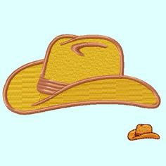 Cowboy Hat FILL Embroidery Design by LunaEmbroidery on Etsy, $2.99