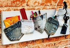 Cajas de regalo creativo puertas hechas de los pantalones vaqueros