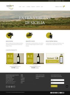 Oliosandron.it - E-commerce by Angelo Sandron, via Behance