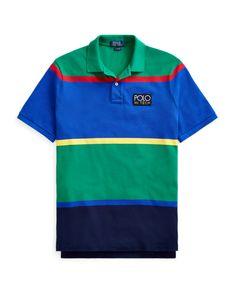 da714810c Polo Ralph Lauren Men Hi Tech Striped Classic Fit Rugby Polo Shirt Rare!