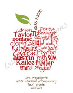 Perfect Teacher's Gift Typography Art 11x14 by lesleygracedesigns, $35.00