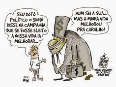 Chargista Cearense Newton Silva: DISCURSO VAZIO