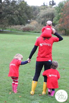 Family photo taken from the back - raising money for Allergy UK - Give it Some Welly