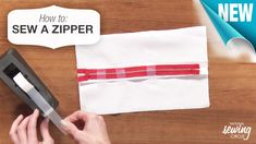 Get helpful tips on how to properly install your center zipper. See how beneficial tape can be when installing a center zipper. http://www.nationalsewingcircle.com/video/how-to-sew-a-zipper-003826/?utm_source=pinterest&utm_medium=organic&utm_campaign=A220 #LetsSew
