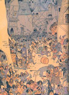 Albert Dubout Albert Dubout, Pixel Art, Vector Art, Vintage World Maps, France, Illustrations, Drawings, People, Prints