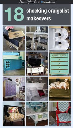 You won't believe your eyes when you see these incredible upcycles! Cute decor and furniture really can be affordable :)