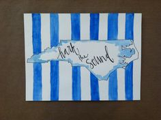 UNC Hark the Sound Print by TheDottedLining on Etsy, $15.00