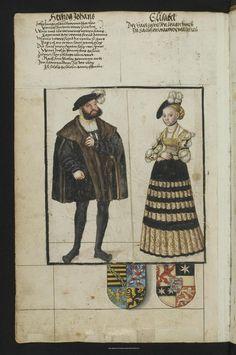 Пряжа Дрезден: Вид на заводе: Саксонский Племенная книга - Mscr.Dresd.R.3 German Renaissance