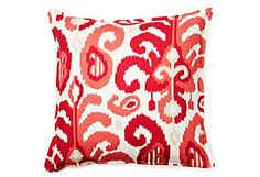 Ikat 16x16 Pillow, Raspberry  Anna's Fabulous Things