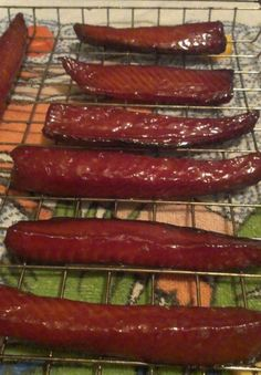 Have you ever tried candied salmon If you haven't tried it, you are missing out! Sweetened smoky salmon is so good, you'll want to make a large batch so you will have some left later It really is more candy than fish I don't think I'd ever – f Smoked Salmon Brine, Smoked Salmon Recipes, Trout Recipes, Jerky Recipes, Traeger Recipes, Smoked Fish, Grilling Recipes, Seafood Recipes, Smoked Salmon Candy Recipe
