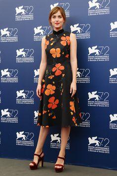 Dakota Johnson In Rodarte at A Bigger Splash photocall at 2015 Venice Film Festival   - ELLE.com (=)