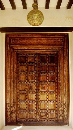 Hand carved in Lamu Kenya Door Entryway, Entrance Doors, Doorway, Cool Doors, Unique Doors, Lamu Kenya, Door Numbers, Door Knockers, Windows And Doors