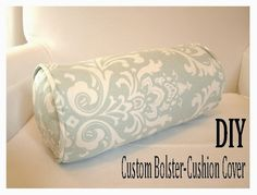 I have always found sewing anything round kind of tricky - but I've finally found a formula for sewing bolster cushion covers that works really well! TOOLS & MATERIALS: - 1 Meter of fabric - 1 Meter o