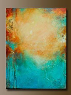 Plateau - 24 x 18 - Abstract Acrylic Painting- Contemporary Wall Art. via Etsy.