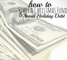 Don't go into debt this holiday season. See How to Start a Christmas Fund & Avoid Holiday Debt. (scheduled via http://www.tailwindapp.com?utm_source=pinterest&utm_medium=twpin&utm_content=post1219745&utm_campaign=scheduler_attribution)