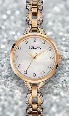 Bulova Crystal Facets 98L207. #Bulova #Crystal #Sparkle