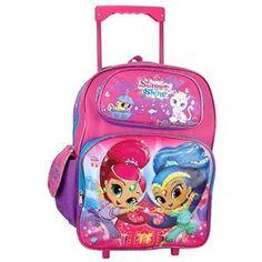 89b1de191cd Girls Rolling Backpack Shimmer And Shine School Large Travel Lunch Tote  Bookbag  GirlsRollingBackpack  ToteBag