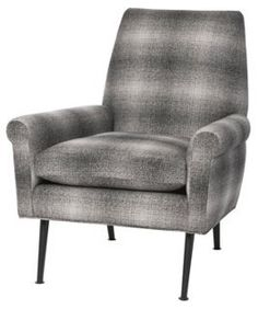 Flint Chair, Gradient Plaid