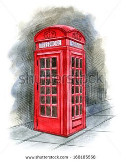 London England, London Telephone Booth, Vintage Telephone, London Drawing, London Icons, Art Prompts, Couple Wallpaper, School Decorations, Background Vintage
