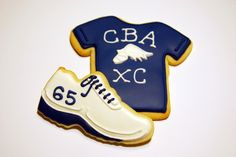 CBA Cross Country Shoe and Shirt Cookies