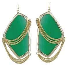 Kendra Scott Kavita Earrings in Pink Agate Jewelry Shop, Jewelry Gifts, Jewelry Accessories, Jewelry Design, Fashion Accessories, Jewellery, Green Earrings, Gemstone Earrings, Statement Earrings