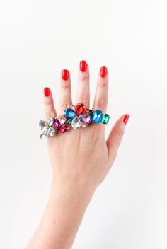 This dazzling statement ring takes 30 minutes to DIY.