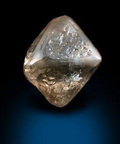 Mineral Specimens: Diamond (2.93 carat brown octahedral crystal) from Damtshaa Mine, near Orapa, Botswana