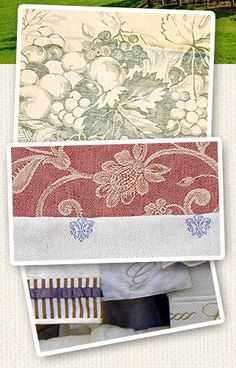 Le Telerie Toscane, Florence - Household linen. Bed linen, table linen and bath linen made in Italy. Bed sheets, pillow shams, bed spreads, decorative pillows, napkins, table runners, kitchen towels, terry towels, bathrobes. Traditional Tuscan fabric Made in Italy.