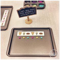 Kindergarten Math Center Idea: Translating Patterns {FREE Translating Pattern Cards}