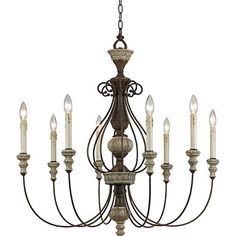 """Williams Collection 30"""" Wide Rust Chandelier - #5F602   Lamps Plus"""