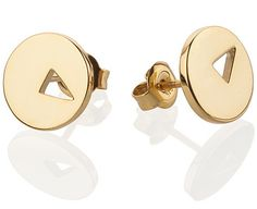 "Earrings ""Pushpins"" in sl925 gold-plated or 14K yellow gold"