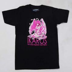 Ever wished a beautiful girl would fall (safely!) from the sky and befriend you as her master? Such a situation is one of the first scenes in the popular Heaven's Lost Property that has spurred on anime, manga, light novels, and even video game adaptations. This T-shirt features art of Ikaros, the Angeloid from the world of Synapse whom Tomoki Sakurai unexpectedly meets one day. Printed beneath her is the class of Angeloid she originally told Tomoki she was, but as fans are sure to remember…