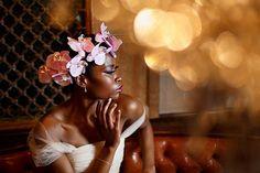 orchid floral crowns - photo by Mon et Mine http://ruffledblog.com/floral-wonderland-wedding-ideas