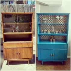 Hutch Redo Furniture Makeover Ideas Repurposed Painted Room Dividers Thrift Finds Mid Century Modern