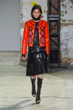 Gothic Couture: Cyberpunk from Proenza Schouler 2013 Spring Collection. Via Fashionista.com.