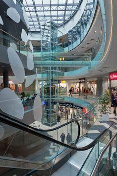 Joseph Abhar - Ave Plaza mall in Kharkiv (Ukraina) by Drozdov Shopping Malls, Shopping World, Glass Bridge, Retail Architecture, Mall Stores, Commercial Center, Retail Interior, Sky Aesthetic, Retail Shop