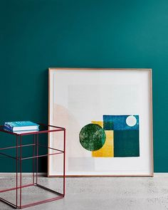 CHROMA Inspiration. Art can play a big part in the Chroma interior – look for artwork that features block shapes and strong linear work. Wall features Dulux #DeepArctic | Styled by @breeleech and @heathernetteking Image by @lisacohenphoto