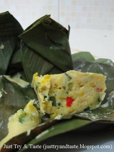 Just Try & Taste: Bothok Jagung Easy Cooking, Cooking Time, Cooking Recipes, Asian Recipes, Ethnic Recipes, Indonesian Food, Indonesian Recipes, Vegetable Side Dishes, Food And Drink