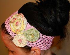 Rosette Headband #DIY #Crafts